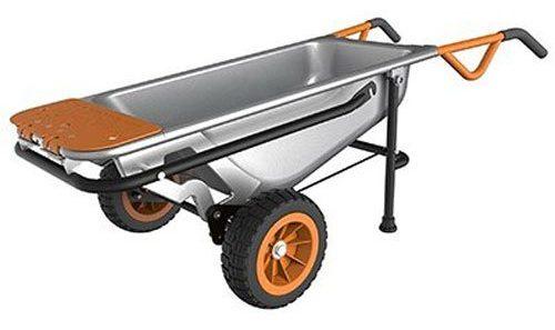 WORX WG050 Carretilla neumática de 2 ruedas / carro de jardín / plataforma rodante 8 en 1