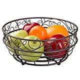 Twigz iDesign - Frutero de alambre para encimeras de cocina y comedor, mesas, buffets, refrigeradores, bronce