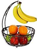 SimpleHouseware - Cuenco para cesta de frutas con colgante para árbol de plátano, bronce