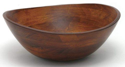 Lipper International 294 Tazón para servir con borde ondulado y acabado cereza para frutas