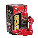 BIG RED T90203B Gato hidráulico de botella soldado Torin, capacidad de 2 toneladas (4000 lb), rojo