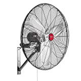 OEMTOOLS 23.99 Bisagra de montaje en pared oscilante interior de alta velocidad, ventilador comercial modelo antiguo, negro