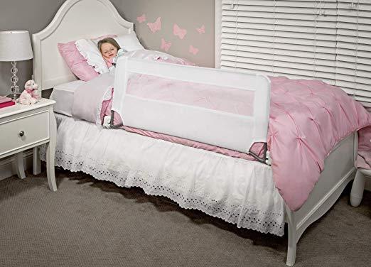 Rieles de cama con baranda abatible para cama Regalo