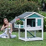 Petsfit jaulas para conejos de 42.5 x 30 x 46 pulgadas, conejera para exteriores