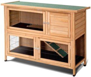 casa de conejos al aire libre