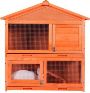 jaula de madera para conejos