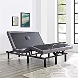 Base de colchón articulada IdealBase con masaje, inclinación de cabeza y pie, control remoto inalámbrico con Naomi Home Twin XL