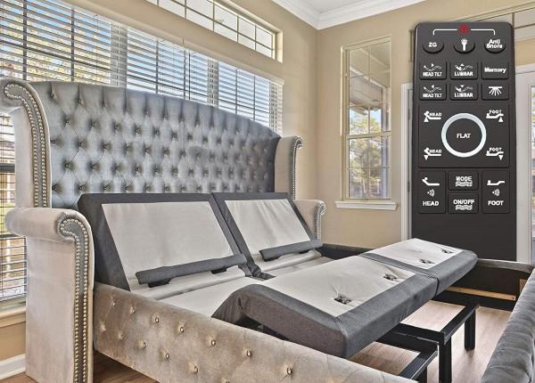 Armazón de base de cama articulada Sven & Son Twin XL (inclinación individual y lumbar) Puertos de cama USB gemelos articuladas Mejor