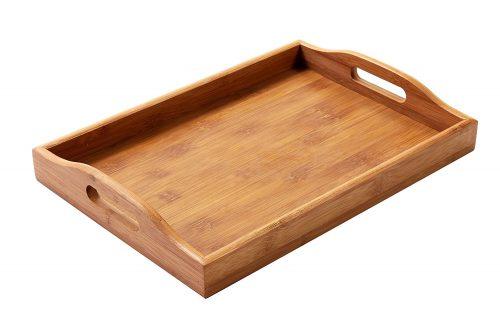 Bandeja de madera para servidor de alimentos