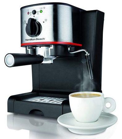 Hamilton Beach 40792 Cafetera para café espresso y capuchino, negra