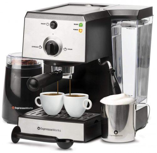 Máquina de espresso todo en uno 7 piezas