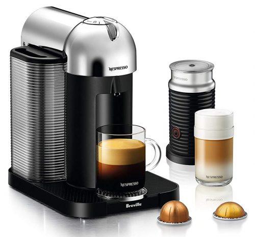 Mida la máquina de café y espresso Nespresso Vertuo con espumador de leche Aeroccino