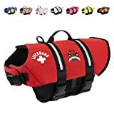 Aboard Paws Chaleco salvavidas para perros, chaleco salvavidas de neopreno para perros para nadar y pasear en bote - Rojo