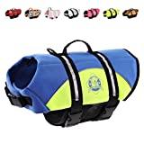 Aboard Paws Chaleco salvavidas para perros, chaleco salvavidas de neopreno para perros para nadar y pasear en bote - Azul / Amarillo