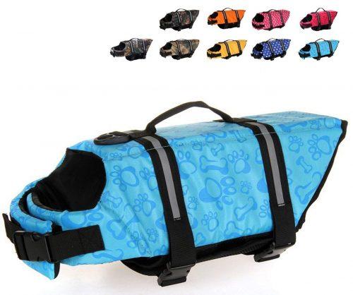 HAOCOO chaleco Salvavidas Chaleco para perros Salvavidas Seguridad Traje de baño Preserver
