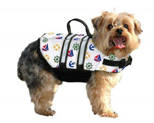 Paws Aboard Designer Small Jacket Life Doggy Náutico 15-20 lb N1300