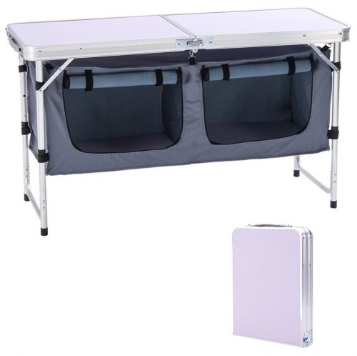 Mesa de altura CampLand Altura de peso de aluminio ajustable