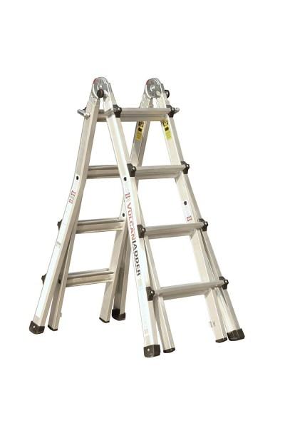 Ladder 9.Vulcan USA 3600735401986540 Escalera de tijera multitarea de aluminio 17Ft