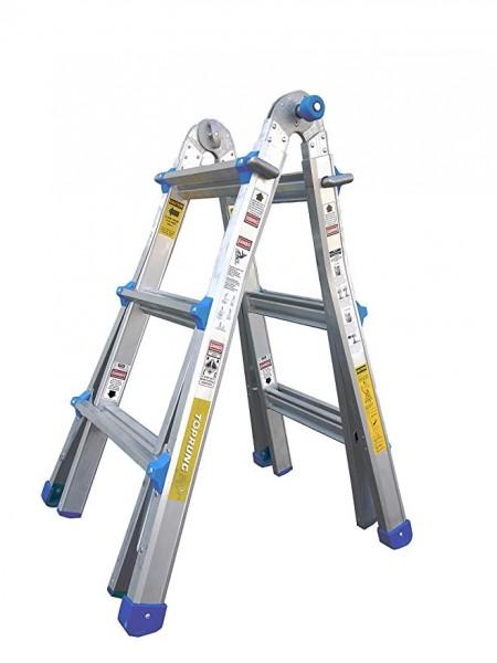 7.Modelo SUPERIOR-17 pies. Escalera multiusos de extensión de aluminio