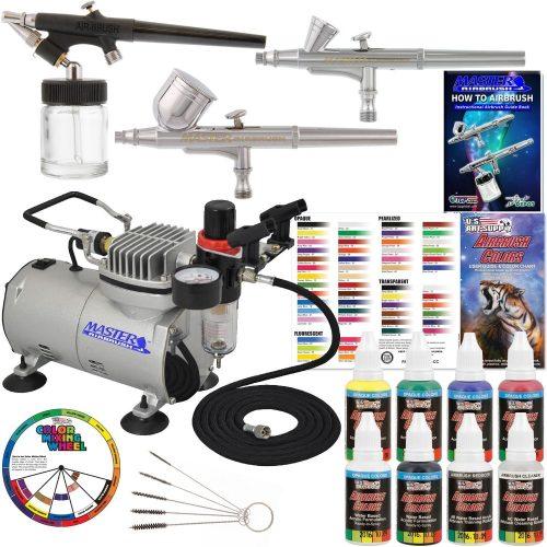 Professional Airbrush Master 3 Sistema de aerografía con dispositivo de aerografía