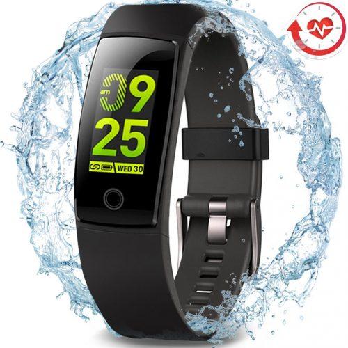 Perseguidor impermeable de la salud, pantalla a color elegante del reloj de los deportes del perseguidor de la aptitud de MorePro