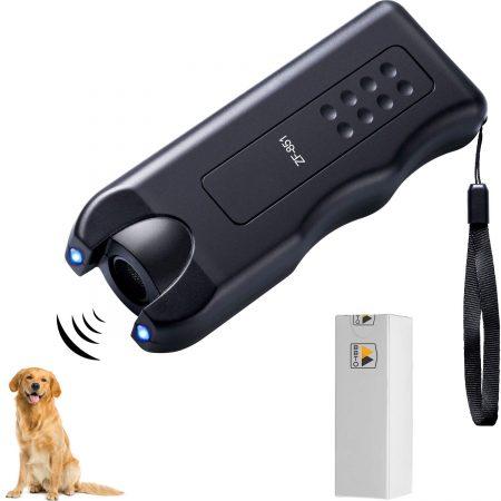 BBTO 3 en 1 repelente de perros LED ultrasónico Dispositivo de adiestramiento de perros Herramientas de entrenamiento de perros agudas Detener Anti-ladrido