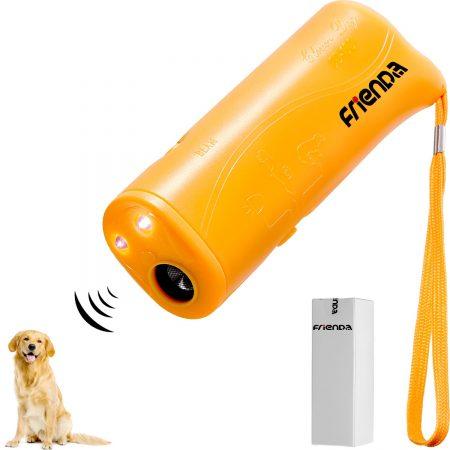 Frienda LED Ultrasonic Dog Trainer & Trainer Device 3 en 1 Stop Bark Bark Hand Dog Training Device