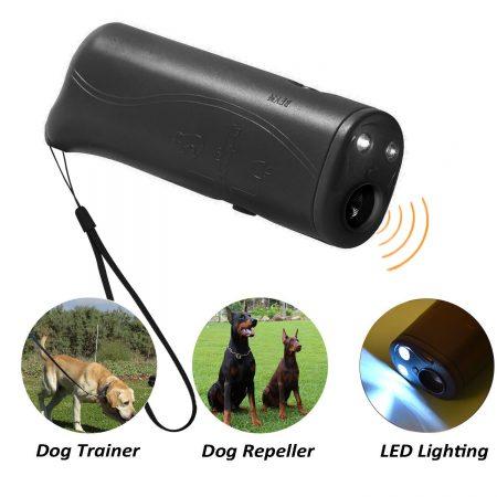 Repelente de perros ultrasónico LED POVAD