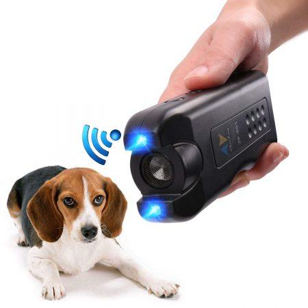 Repelente de perros de mano PET CAREE, detectores de perros ultrasónicos por infrarrojos ultrasónicos para perros