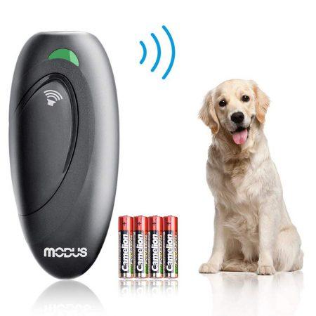 Dispositivo antiladridos Modus, detergente ultrasónico para ladridos de perros y rango de control de asistencia para entrenamiento de perros 2 en 1 de 16.4 pies con correa de ala LED antiestática LED 100% Express