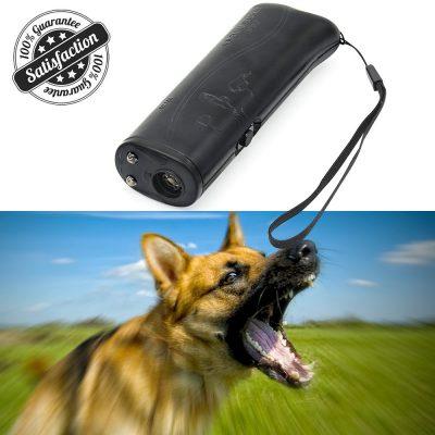Dispositivo de entrenamiento de mascotas de repuesto ultrasónico para perros HiGuard, dispositivo portátil en 3 barras, 1 parada, parada de ladridos con batería de 9 voltios