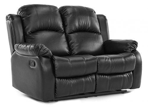 Loveseat Double Reclaimed Classic - Sillón reclinable de sala de estar forrado en cuero