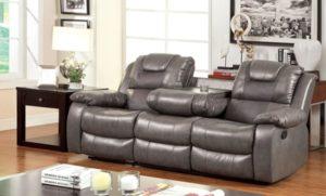 sofás reclinables de cuero