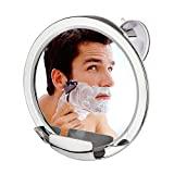 Espejo de ducha antivaho Cheftick con soporte para maquinilla de afeitar incorporado, rotación de 360 grados para una vista fácil del espejo, succión de bloqueo alto y brazo ajustable, a prueba de formas, ¡garantizado sin vaho!