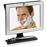 WCTree Products Espejo de ducha antivaho con escobilla de goma