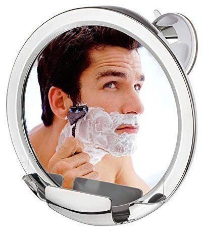 Espejo de ducha Cheftick sin vaho con soporte para maquinilla de afeitar construido