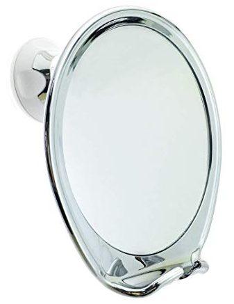 Espejo de ducha sin vaho JiBen con succión de bloqueo eléctrico