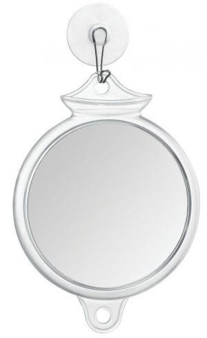 Cortina de ducha con succión antivaho InterDesign, espejo sin vaho para baño