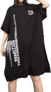 vestido de camiseta grande