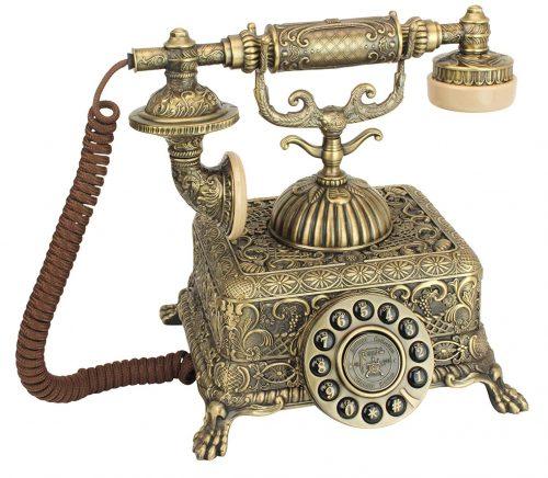 Teléfono antiguo - Grand Emperor 1933 Teléfono giratorio - Cable retro - Teléfonos decorativos vintage