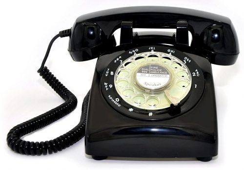 ECVISION 1960's Vintage Color Negro ESTILO ROTATIVO Retro antiguo Dial giratorio Teléfono residencial