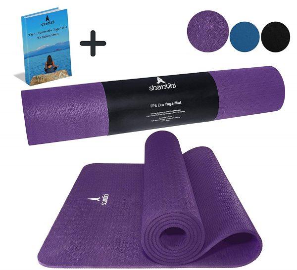 Esterilla de yoga Shantihi - Esterilla de yoga TPE ecológica y gruesa de primera calidad