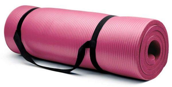 Esterilla de yoga extra gruesa Artículos deportivos con corona de 5/8 bisagras con reborde antiadherente