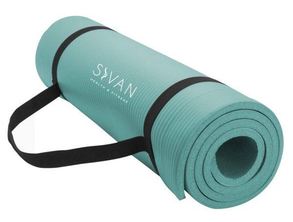 Salud y estado físico Sivan 1/2 pulgada Esterilla extra gruesa de espuma NBR de 71 pulgadas de largo Esterilla de yoga para ejercicios