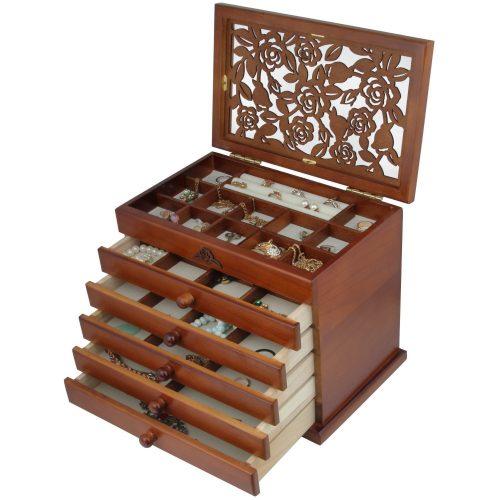 Caja de madera para joyería