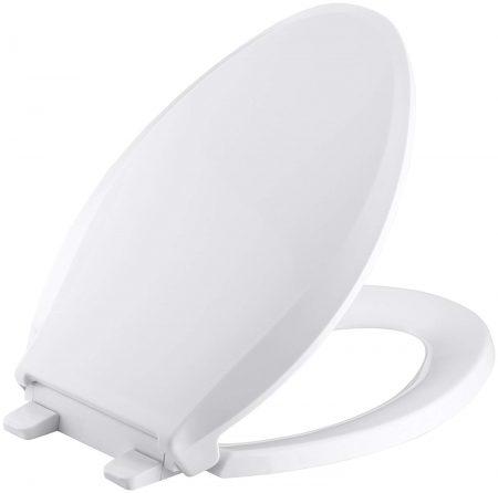 KOHLER K-4636-0 Asiento de inodoro blanco largo para inodoro Cachet