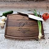 Tabla de cortar de madera personalizada - Nogal - Arce - Navidad - Calefacción del hogar - Regalo de boda personalizado - Único