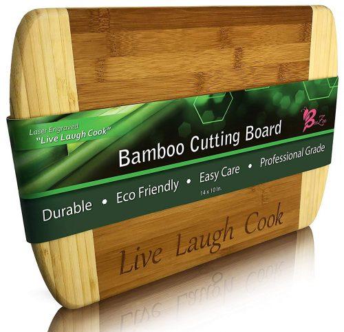 Tabla de cortar de bambú BeeZen - 14 x 10 pulgadas - Pegado