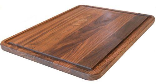 Tabla de cortar de madera de nogal extra grande con cocinas Virginia Boys