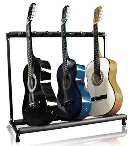 7 Soporte plegable para guitarra de múltiples etapas 7 Soporte para rack de guitarra Soporte
